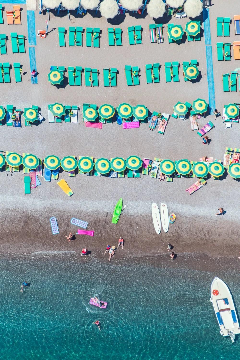 nerano beach vertical amalfi coast