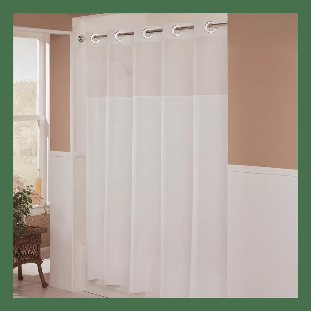 hookless illusion shower curtain