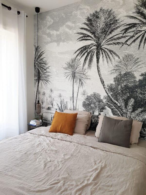 Chambre_bohème_avec_papier_peint_oasis