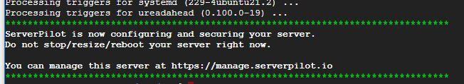 ServerPilot install software