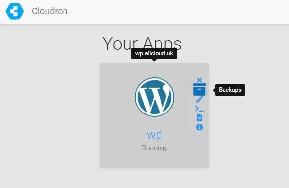 Cloudron first WordPress App