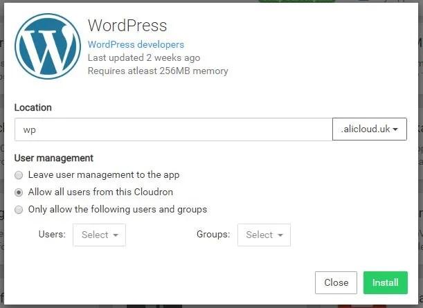 Install WordPress Subdomain