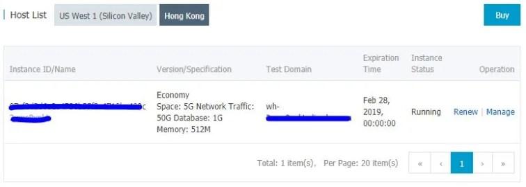 Alibaba Cloud Web Hosting