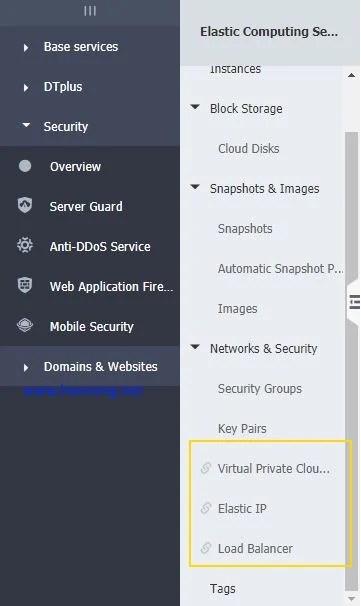 Alibala Cloud VPC EIP SLB