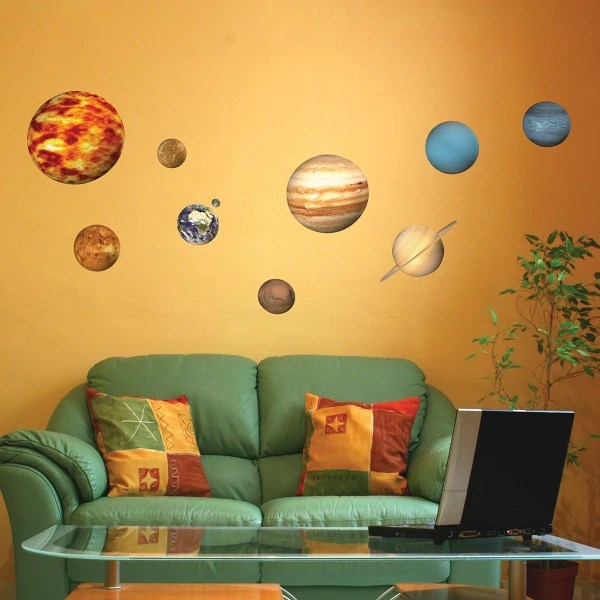 Educational Solar System Wall Stickers Hardtofind