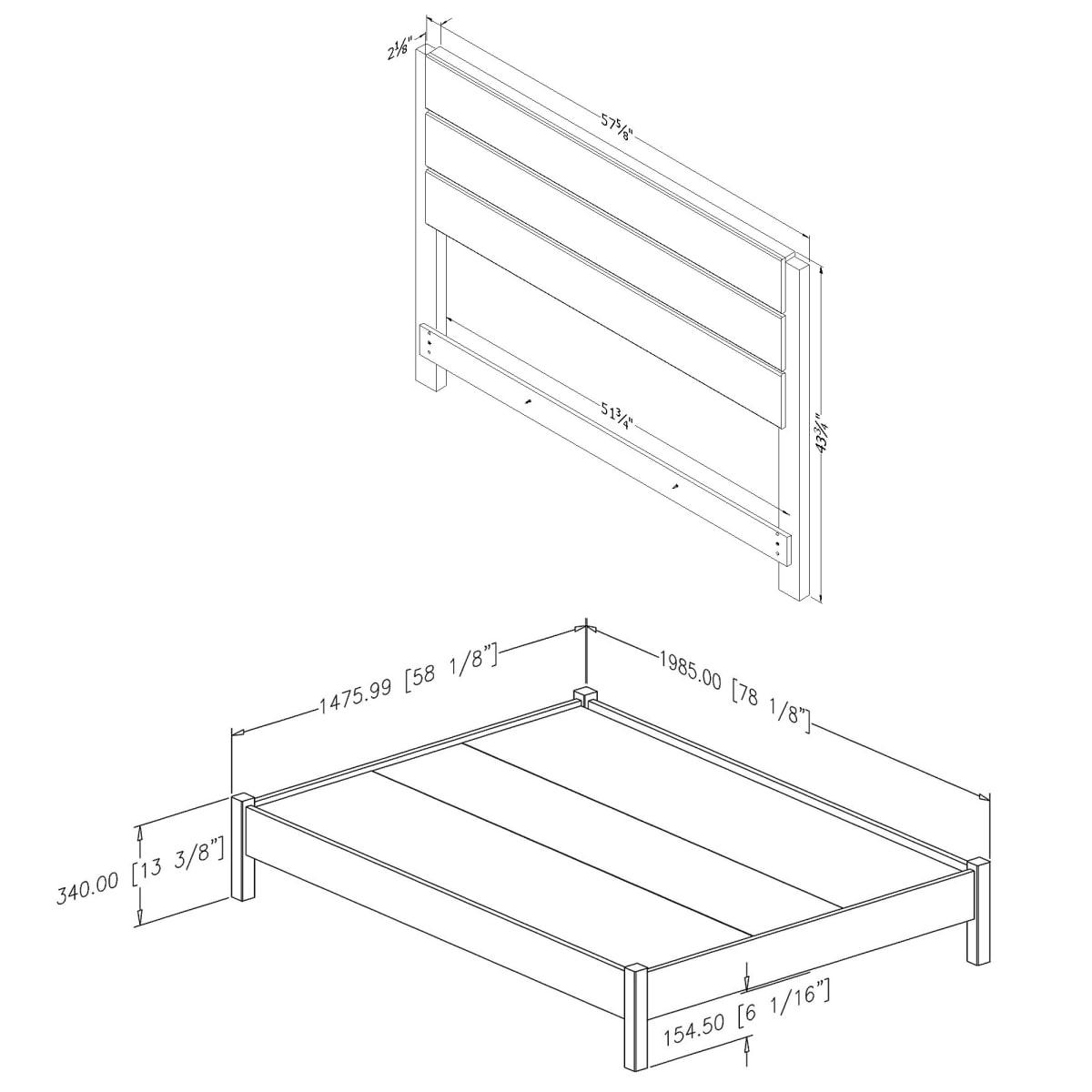 munich lit plateforme complet avec