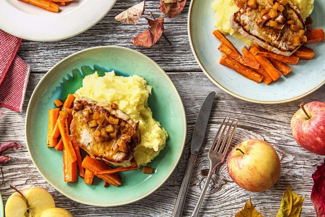 Sweet-Apple-Pork-Chops-easy apple recipes-HelloFresh
