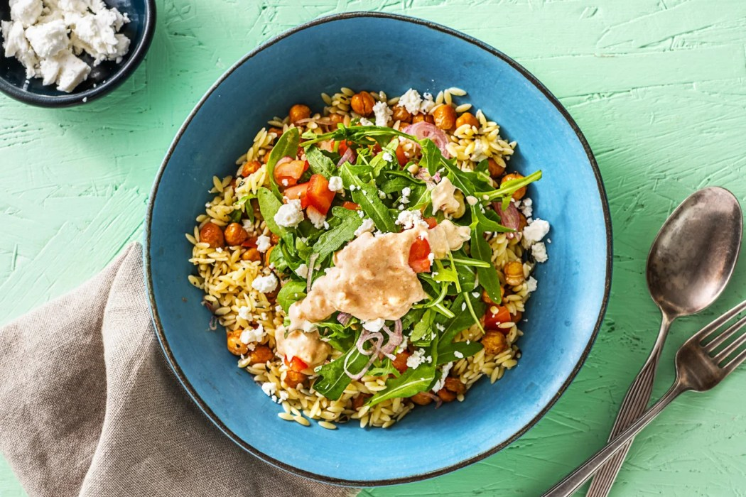 Mediterranean Chickpea Orzo-how to roast chickpeas-HelloFresh
