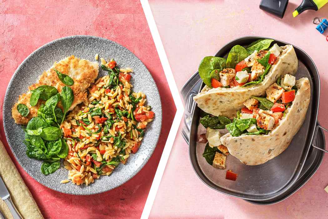 easy chicken dinner-Crispy-Chicken-Dinner-pita-sandwich-lunch-HelloFresh