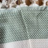 Hasir Olive Green Blanket Extra Large Double King size bed Cotton3 COPY
