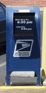 New Post Office Mailbox with Label