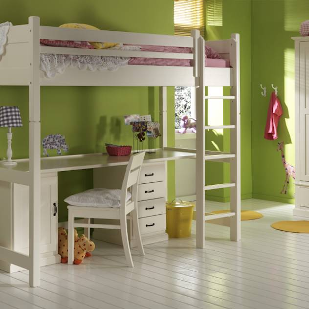Cute With drawers underneath also this really does add storage value but gives you a large desk and bed in one