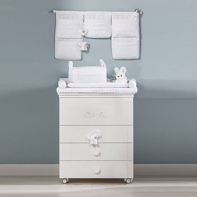 'Miro' White changing table with drawers by Picci : Storage by My Italian Living