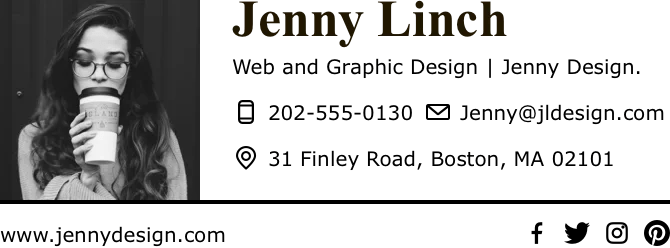 Free Email Signature Generator Templates Honeybook