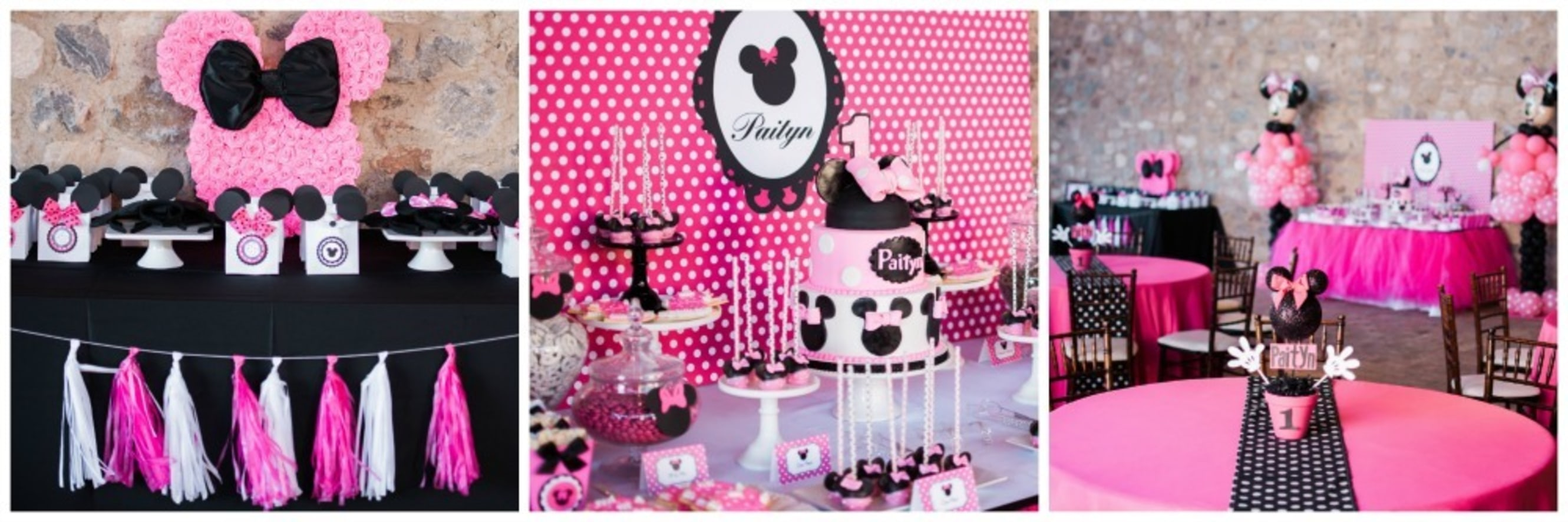 1st Birthday Minnie Mouse Table Decorations