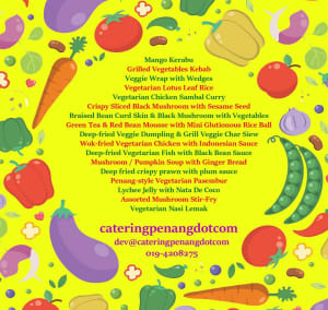 catering penang vegetarian menu