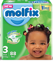 Molfix Baby Diaper size 3 medi
