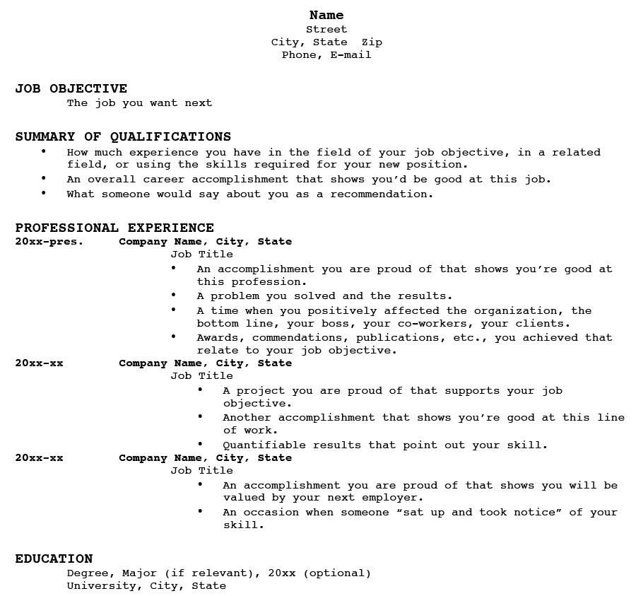 resume skills resume format download pdf cv - Skill Resume Format