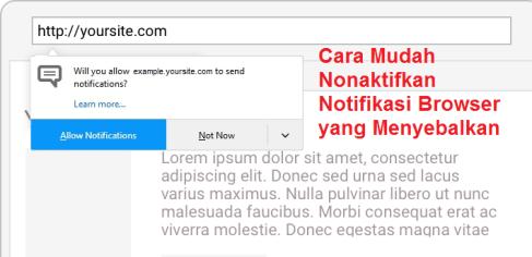 Cara Mudah Nonaktifkan Notifikasi Browser yang Menyebalkan