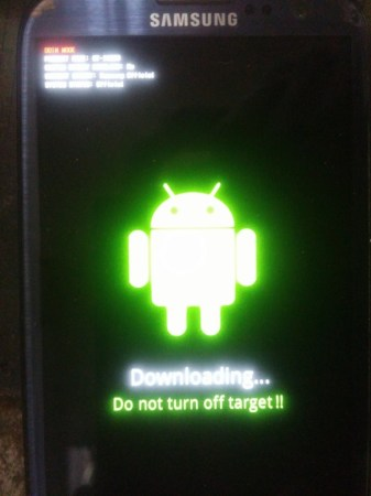 Samsung Galaxy S3 i9300 download mode
