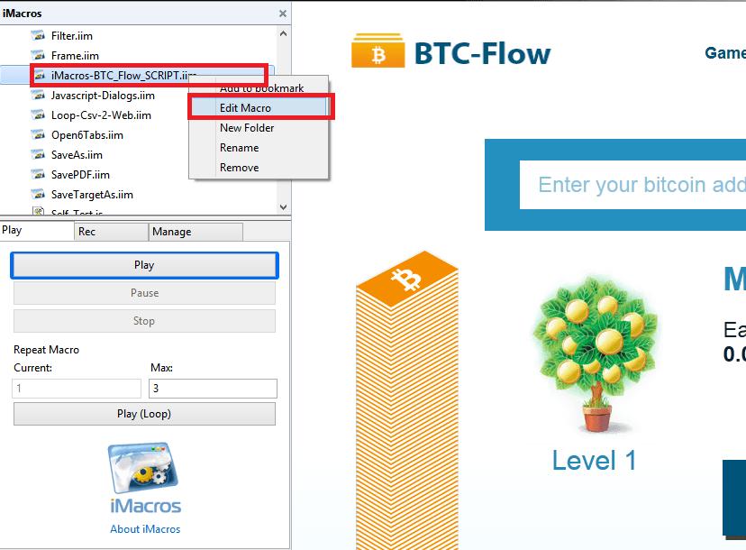 Cara Cepat Cari BTC di Flow dengan iMacros | iMadeNews com - Portal