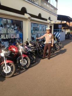 Puluhan Sepeda Motor Diamankan