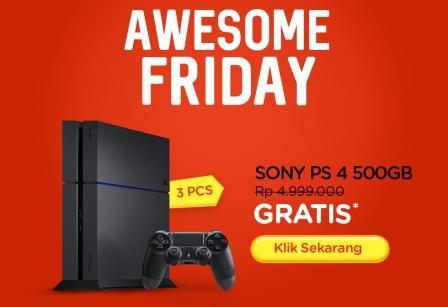 Dapatkan Gratis SONY PS 4 500GB Dari Elevania