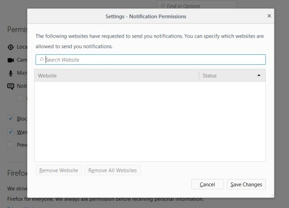 Cara Mudah Nonaktifkan Notifikasi Browser di firefox