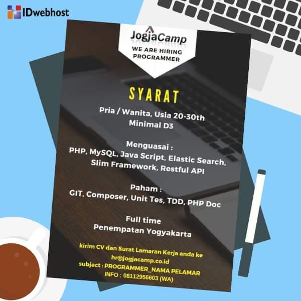 Lowongan Kerja Programmer di PT. JogjaCamp