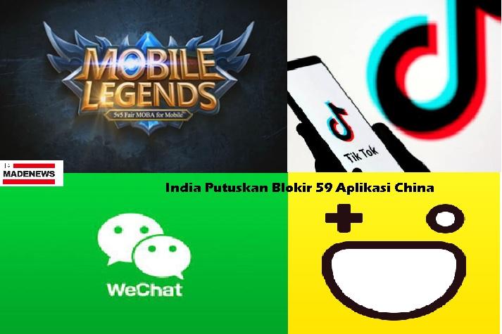 India Putuskan Blokir 59 Aplikasi China, Mobile Legends, TikTok cs