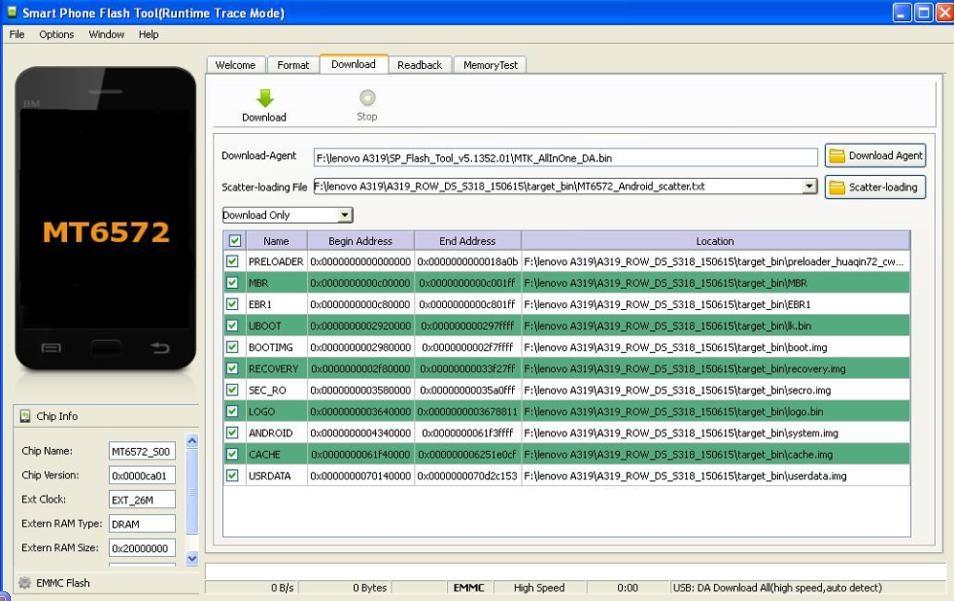 Cara Fix Lenovo A319 Bootloop dengan FlashTool