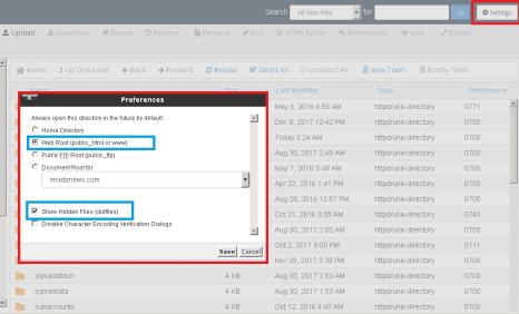 show hidden files_Mengatasi Jetpack 403 Error dan Publicize Error code -32300