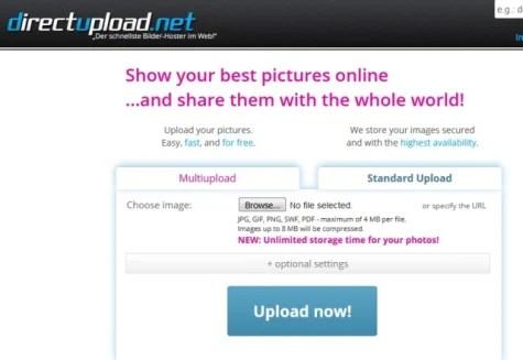 Hosting Gambar Directupload