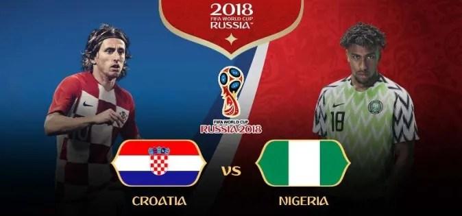Piala Dunia Rusia: Kroasia vs Nigeria