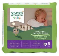 Seventh Generation Overnight Baby Diapers