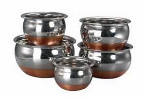 Kitchen Cook'S 5pcs Copper Bottom Prabhu Chetty