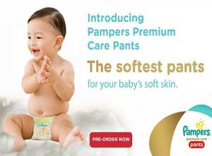 Pampers premium care products