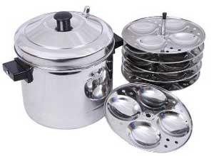 Tallboy Murugan Idly Cooker 6 Plates