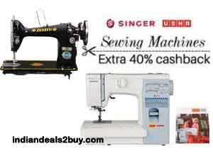 Sewing Machines 40% Cashback