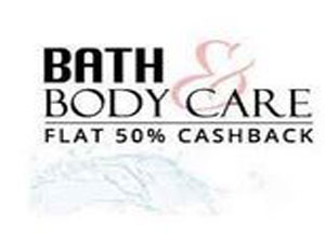 Flat 50% Cashback on Bath and Body