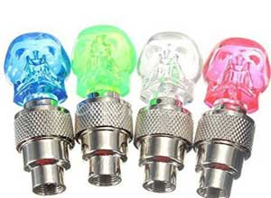 AFS Skull Shape Blue Bicycle LED Light Lamp with Built-in Motion Sensor