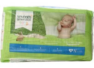 Seventh Generation Free & Clear Baby Diapers Pack Newborn