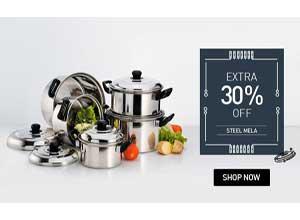 Steel Kitchenware Extra 30% Off