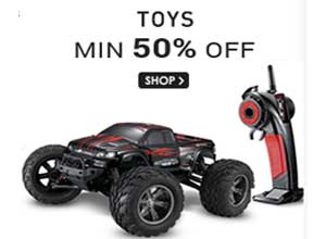 Toys and Games minimum 50% Off