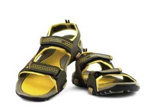 Lotto Men's Sandal Strip Olive Yellow