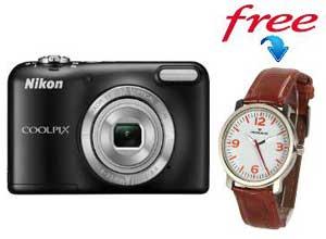 Nikon Coolpix L31 16.1 MP Point & Shoot Camera + Free Provogue Watch