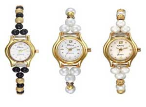 Oleva Combo Ladies Pearl Watch Set of Three