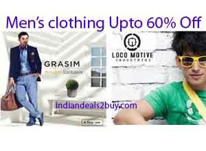 Branded Men's clothing Flat 60% OFF