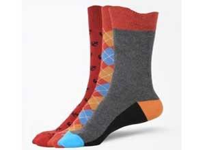 Arrow Men's Printed Crew Length Socks Pack of 3