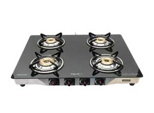 Pigeon Blackline Smart Stainless Steel 4 Burner Gas Stove